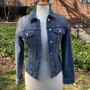 GAP Blue Faded Denim Jacket